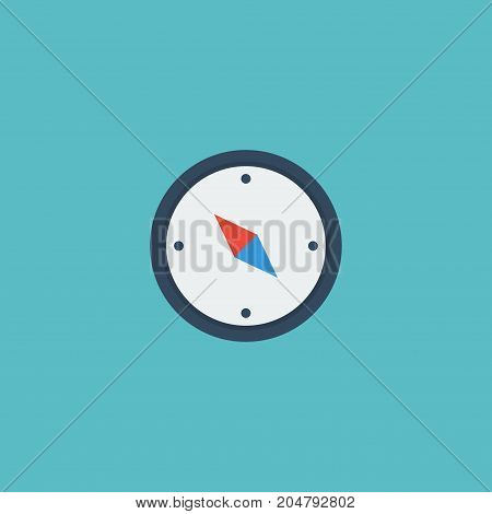 Flat Icon Compass Element. Vector Illustration Of Flat Icon Direction Isolated On Clean Background