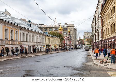 People On Solyanka Street In Moscow City