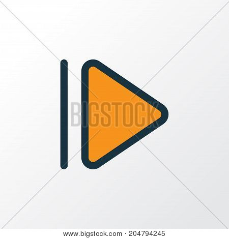 Premium Quality Isolated Slow Forward Element In Trendy Style.  Upward Colorful Outline Symbol.