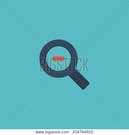 Flat Icon Magnifier Element. Vector Illustration Of Flat Icon Zoom Out Isolated On Clean Background