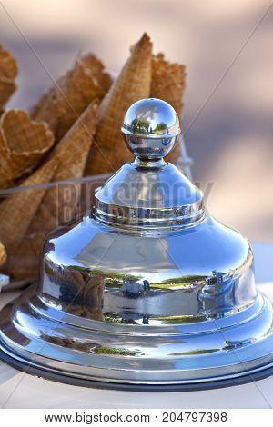Lid And Ice Cream Cones