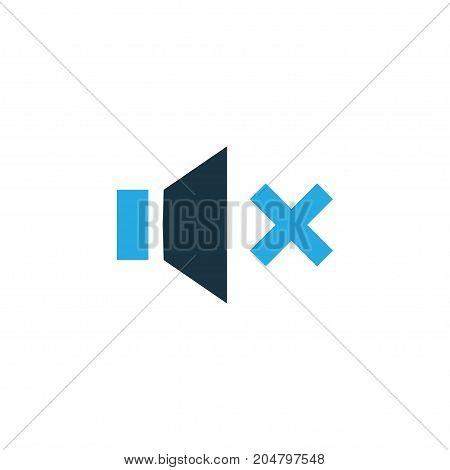 Premium Quality Isolated Silence Element In Trendy Style.  Mute Colorful Icon Symbol.