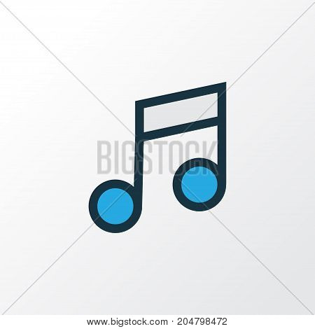 Premium Quality Isolated Musical Note Element In Trendy Style.  Music Colorful Outline Symbol.