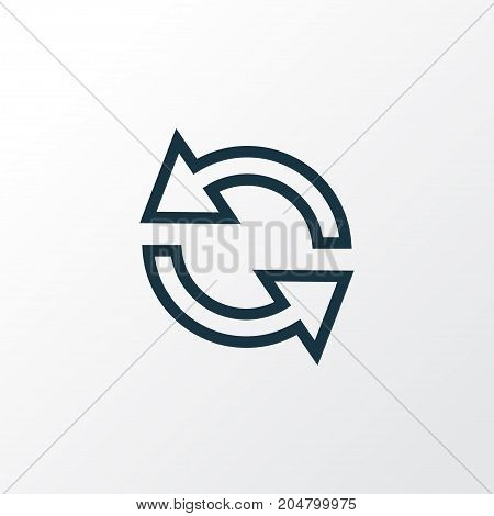 Premium Quality Isolated Synchronize Element In Trendy Style.  Sync Outline Symbol.