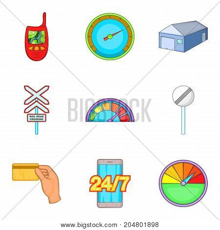 Limitation icons set. Cartoon set of 9 limitation vector icons for web isolated on white background
