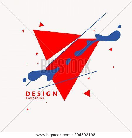 Abstract background. Composition of geometric shapes and splash. Vector illustration