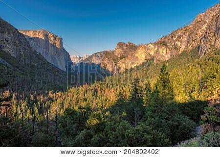 Sunset on Yosemite Valley, Yosemite National Park, California