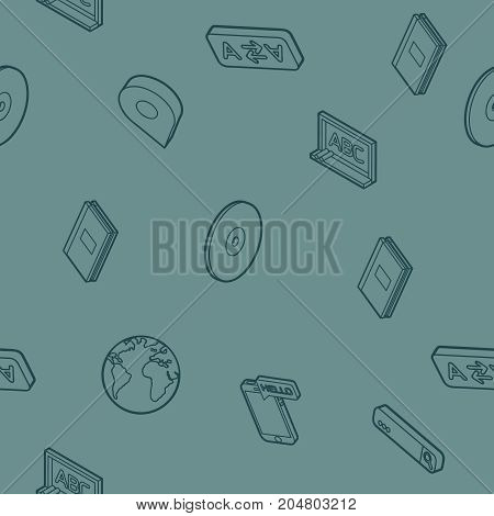 Languages outline isometric pattern. Set of modern linear icons on the topic of learning a foreign language. Vector logos for schools, colleges and universities.