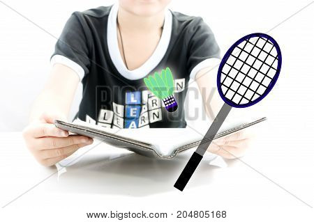 Read a book plan for play badminton