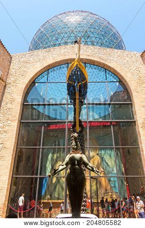 Details From The Interior Of The Famous Museum And Theatre Of Salvador Dali
