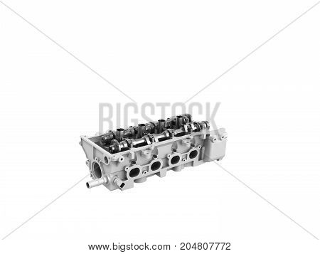 Concept Of The Cylinder Head 3D Render On A White Background No Whadow