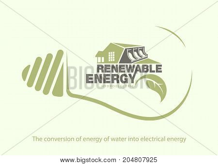 Renewable energy of hydroelectric power in bulb. The concept of ecology