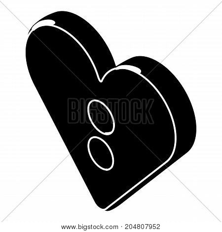 Heart clothes button icon. Simple illustration of heart clothes button vector icon for web design isolated on white background