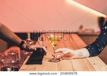 Visitor Taking Cocktail