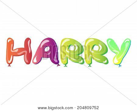 Harry male name text balloons. Vector illustration
