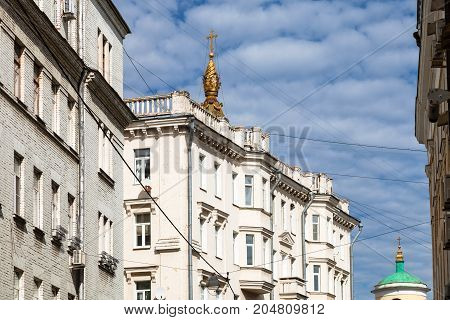 Typical Urban Houses In Center Of Moscow City