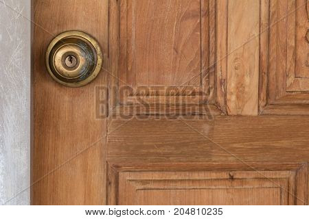 Background Knob locks on the door wood