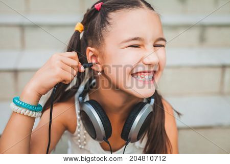 little child laughing and spoiling, pretty kid laughing out loud