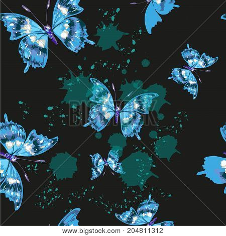 Vector butterflies pattern Abstract seamless background stock vector