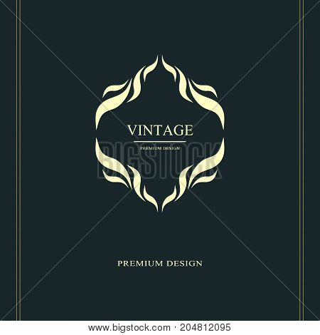 Monogram design elements graceful template. Calligraphic elegant line art logo design. Letter emblem sign for Royalty business card Boutique Hotel Heraldic Jewelry. Vector illustration