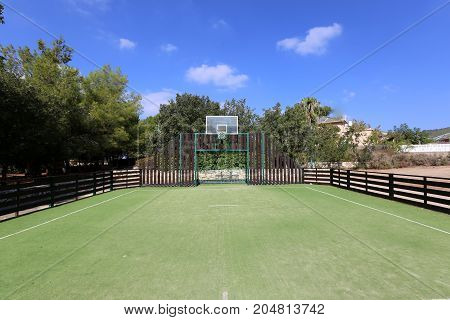 Nature in a children's park in the north of Israel