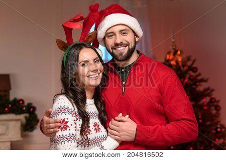 Couple At Christmas