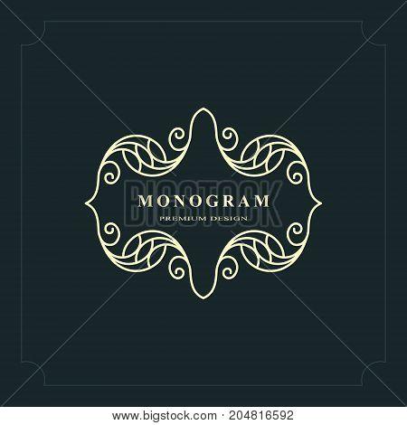 Line graphics monogram. Elegant art logo design. Graceful template. Business sign identity for Restaurant Royalty Boutique Cafe Hotel Heraldic Jewelry Fashion. Vector elements