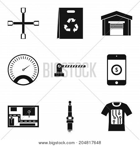 Auto repair icons set. Simple set of 9 auto repair vector icons for web isolated on white background
