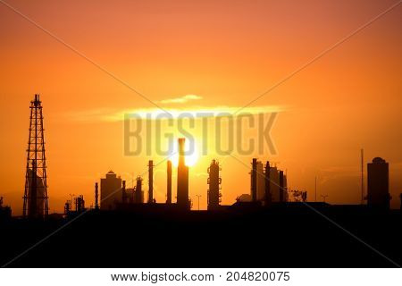 Industrial, Silhouette,background