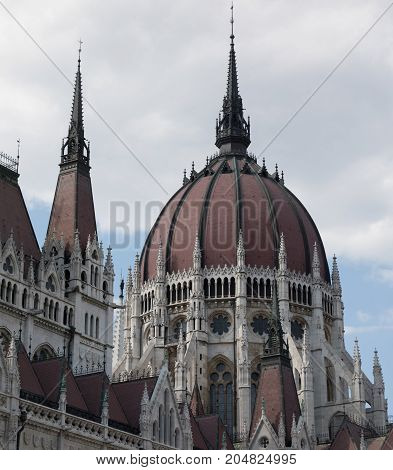 Detail Of The Hungarian Parliament Building