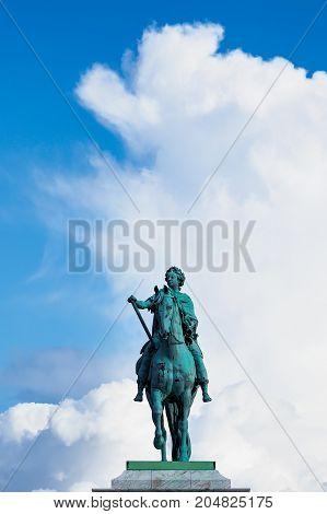 Historical sculpture in the city Copenhagen Denmark.