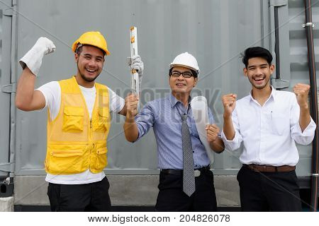 Engineer Team Celebrate For Project Success