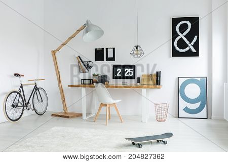 Trendy Interior With Study Space