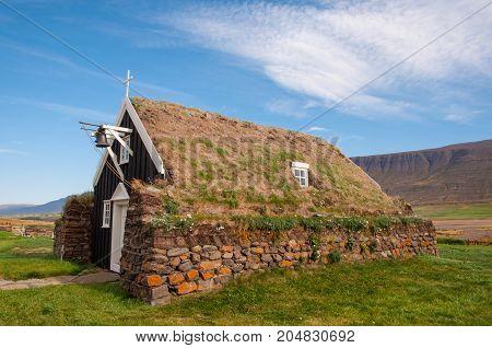 Saurbaer Church In Iceland