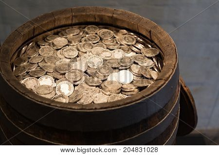 Money precious precious coins money barrel barrel inflation capital courses medieval coins treasure treasure trove silver silver course silver coins silver treasure saving taxes value