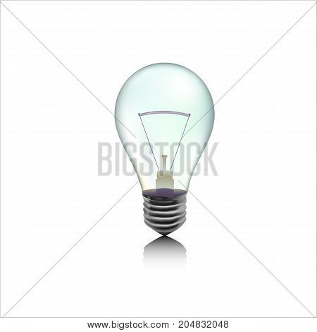 Detail illustration of incandescent gray lamp or bulb