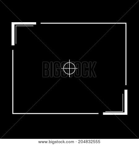 vector camera viewfinder focus icon design concept