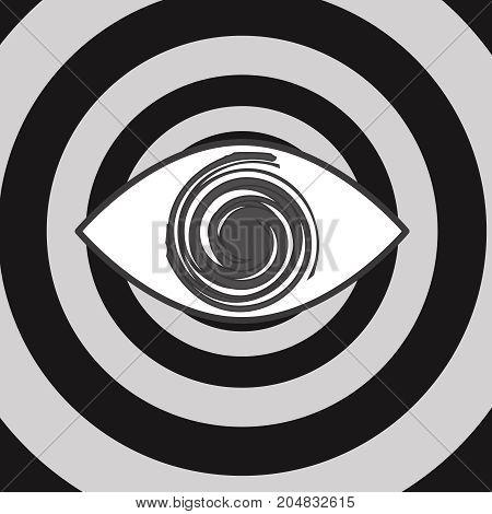vector spiral eye icon design concept circle