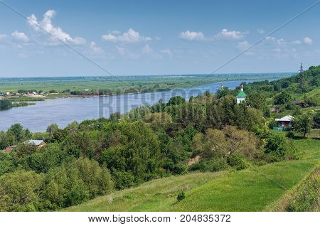 Oka river ( Volga tributary ) near Staraja Ryazan village. Central Russia Ryazan region