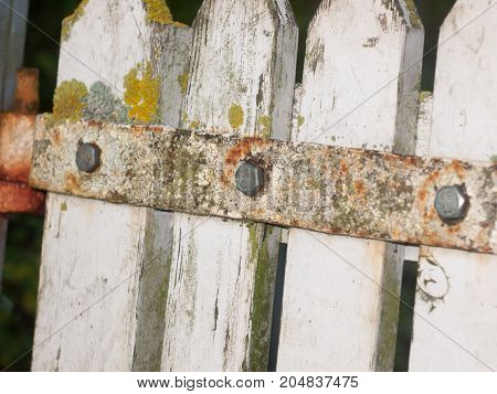 close up texture of metal rusted decaying country gate