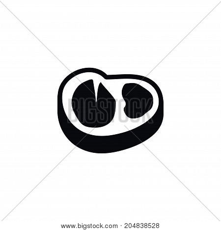 Beefsteak Vector Element Can Be Used For Beef, Meat, Beefsteak Design Concept.  Isolated Meat Icon.