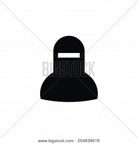 Woman  Vector Element Can Be Used For Muslim, Woman, Mussulman Design Concept.  Isolated Muslim Icon.