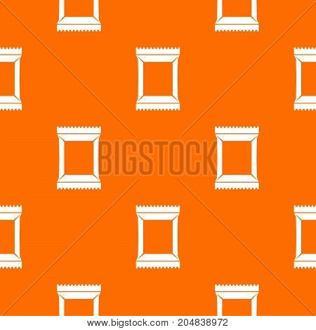 Napkins pack pattern repeat seamless in orange color for any design. Vector geometric illustration