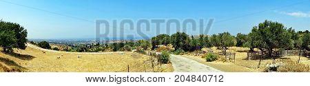 Landscape of the island of Kos in Greece