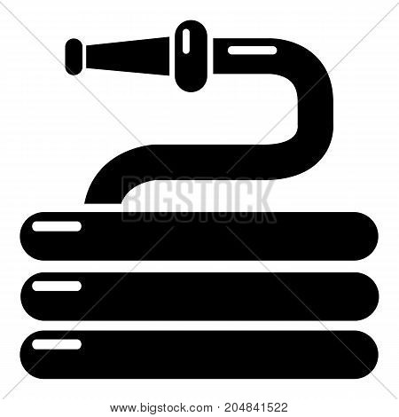 Garden watering hose icon . Simple illustration of garden watering hose vector icon for web design isolated on white background