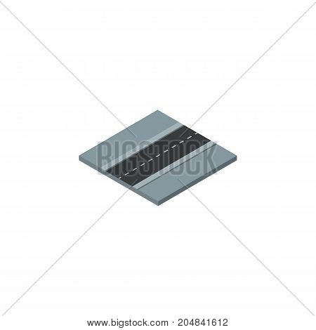 Path Vector Element Can Be Used For Road, Way, Path Design Concept.  Isolated Road Isometric.