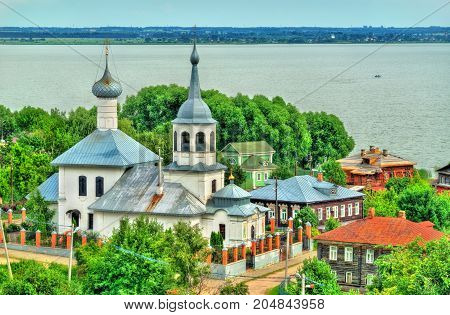 Church of St. Nicholas with Lake Nero in Rostov Veliky, the Golden Ring of Russia