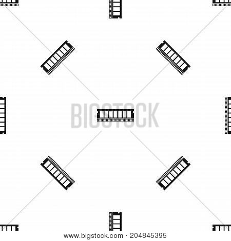 DVD RAM module for the personal computer pattern repeat seamless in black color for any design. Vector geometric illustration