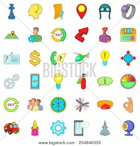 Teamwork icons set. Cartoon style of 36 teamwork vector icons for web isolated on white background