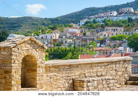 Old stone arch of the Lefkara village. Cyprus